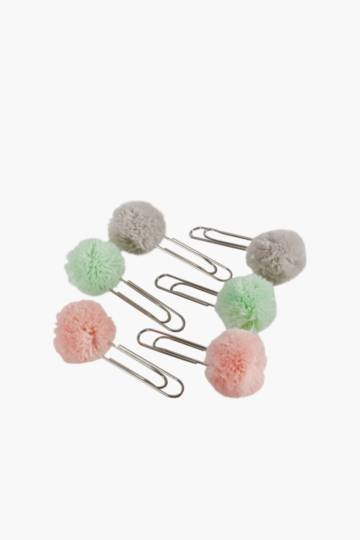 6 Pack Pom Paper Clips