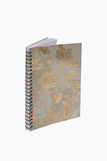 Botanical Foil Notebook A4