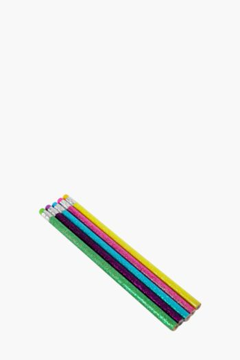 Pack Of 5 Glitter Pencils