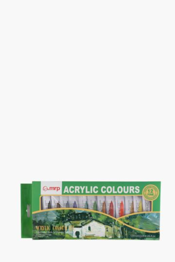 Pack Of 12 Acrylic Colours