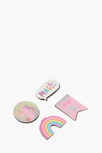 Pack Of 4 Rainbow Magnetic Bookmarks