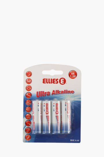 4 Pack AA 1.5V Ultra Alkaline Batteries