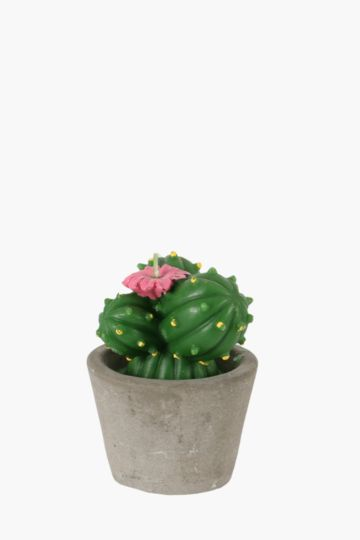 Cactus Shaped Candle In Pot