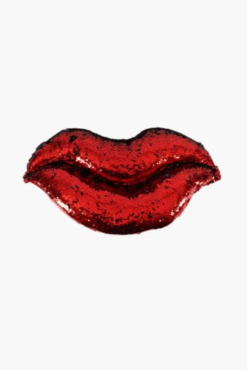 Lips Sequins Cushion