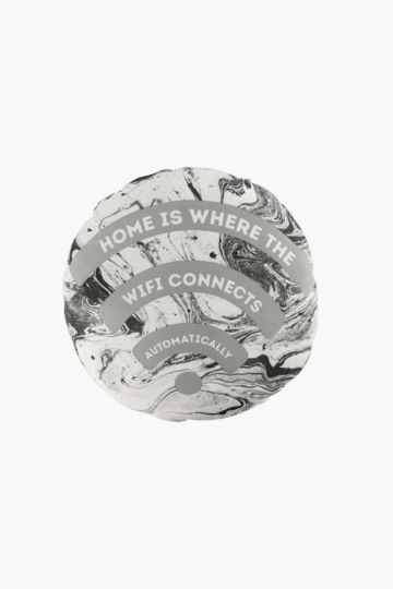 Novelty Wifi Connects 50x50cm Round Scatter Cushion
