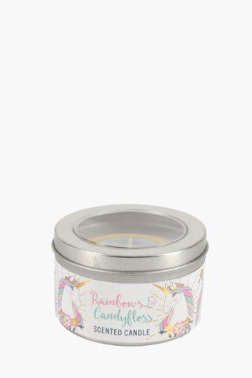 Novelty Scented Unicorn Tin Candle