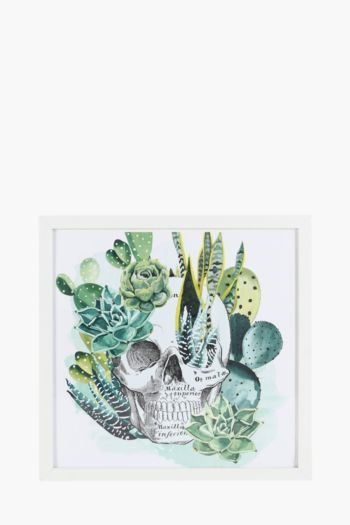 Framed Tropical Skull Wall Art, 40x40cm