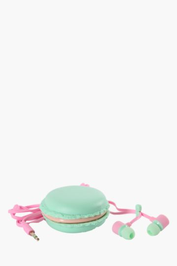 Macaroon Earphones With Holder