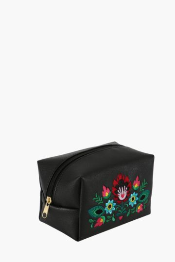 Embroidered Vanity Bag
