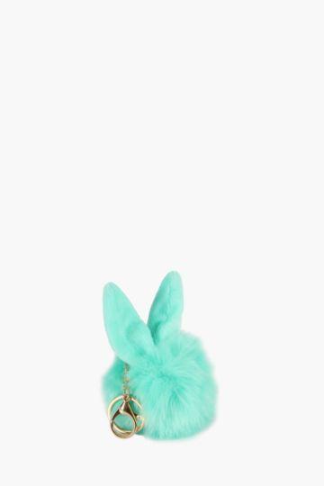 Bunny Pom Key Chain
