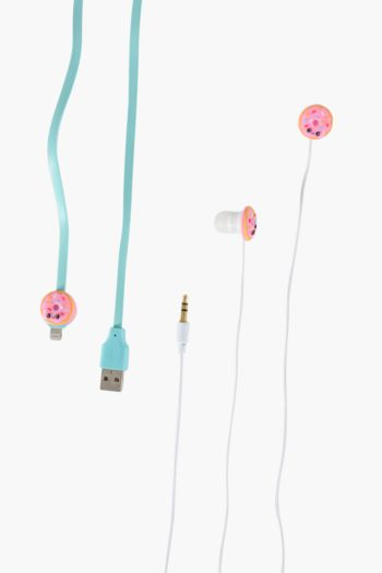 Donut Earphone And Charger Cable Set