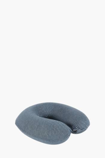Stripe Travel Pillow With Eye Mask