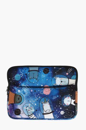 Spaced Out Laptop Case Medium