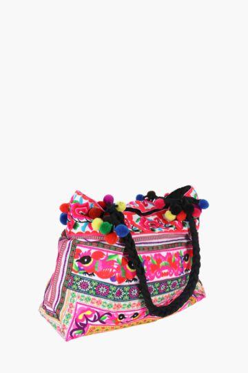 Festival Bag With Pom Detail