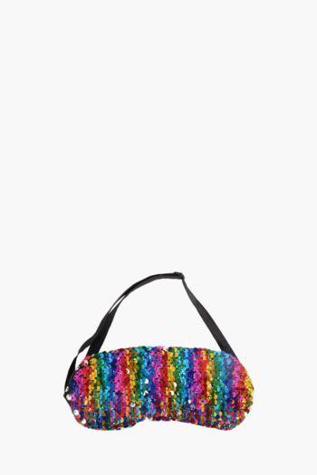 Rainbow Sequin Sleep Mask