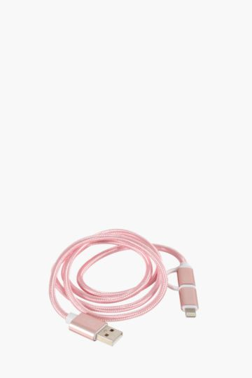 2 In 1 Usb Charger And Transfer Cable