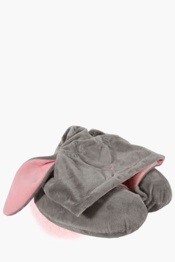 Hooded Rabbit Travel Pillow