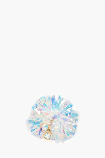 Iridescent Pom Key Ring