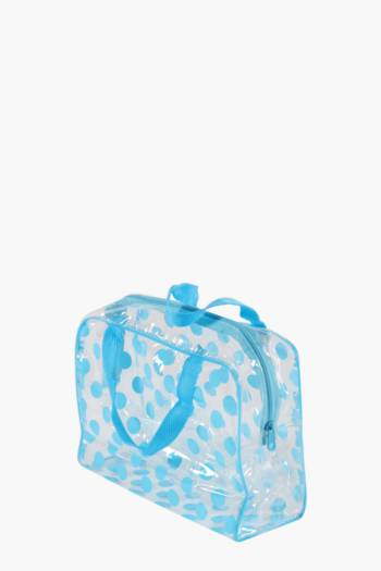 Polka Dot Travel Cosmetic Bag