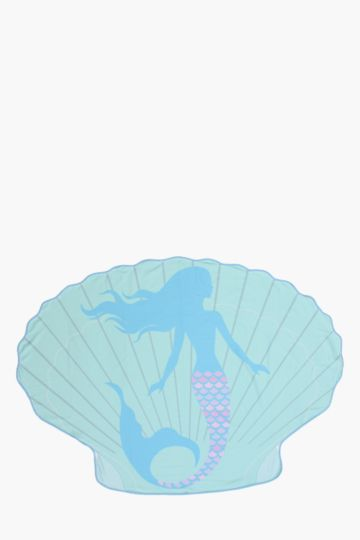 Sea Shell Mermaid Beach Blanket