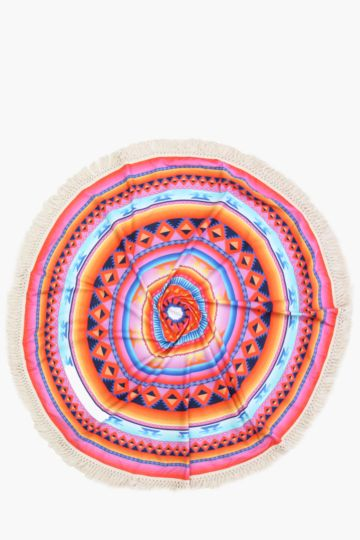 Circular Mexican Medallion Beach Throw