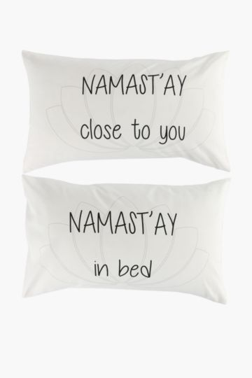 Namastay 2 Pack Standard Pillowcase