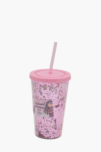 Mermaid Glitter Sippy Cup Gift Set