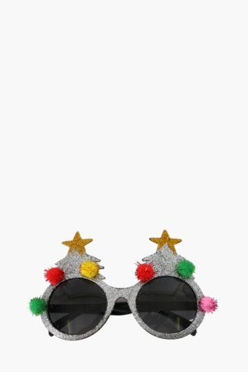 Christmas Tree Pom Pom Glasses