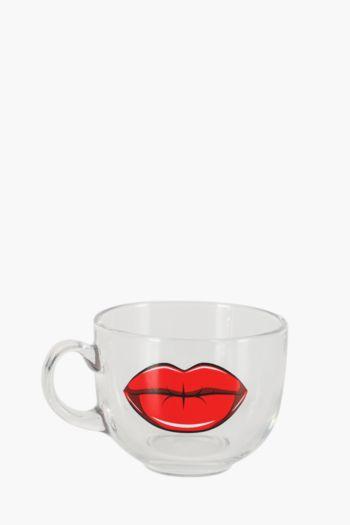 Rockabilly Glass Tea Cup
