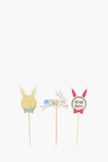 Pack Of 12 Bunny Party Picks