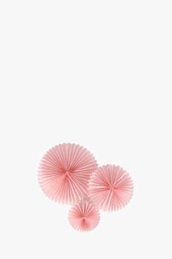 3 Pack Pastel Paper Fan