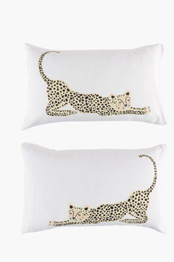 Leopard 2 Pack Standard Pillowcase