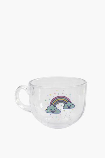 Rainbow Glass Mug