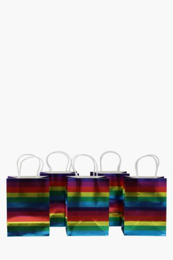 6 Pack Rainbow Gift Bags Small