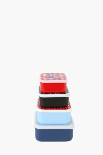 Set Of 4 Rockabilly Lunch Boxes