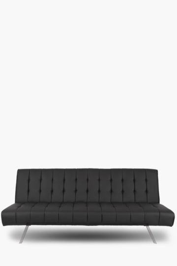 Square Quilted Pu Sleeper Couch