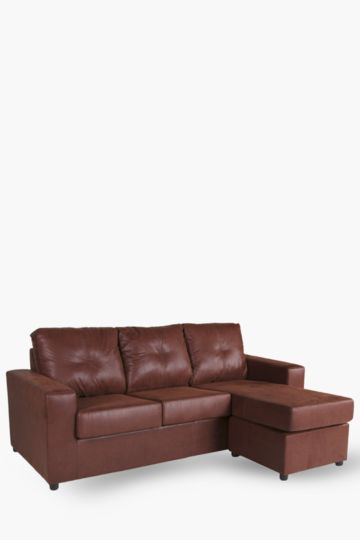 Saddle Stitch Chaise End 3 Seater Sofa