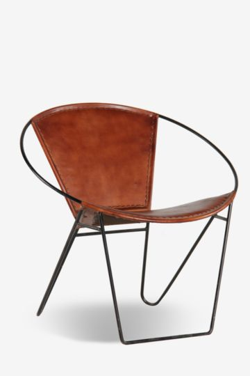 Bucket Leather Chair
