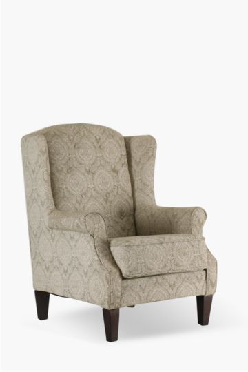 Printed Wingback Chair