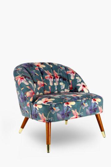 Printed Regal Velvet Chair
