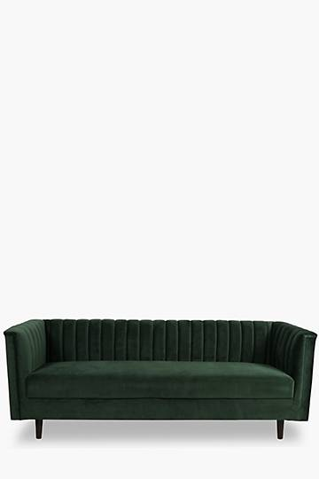 Cognac 2 Seater Ribbed Sofa