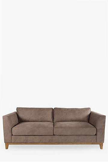 Abbey Plinth Washed Suede 3 Seater Sofa