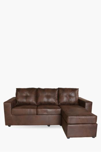 Distressed Saddlestitch Corner Sofa