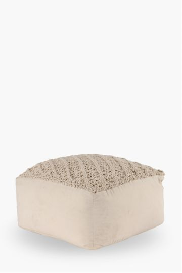 Knitted Pouffe 60x50cm