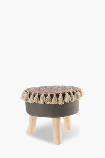 Geometric Tassel Stool