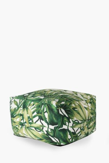 Tropical Leaf Pouffe