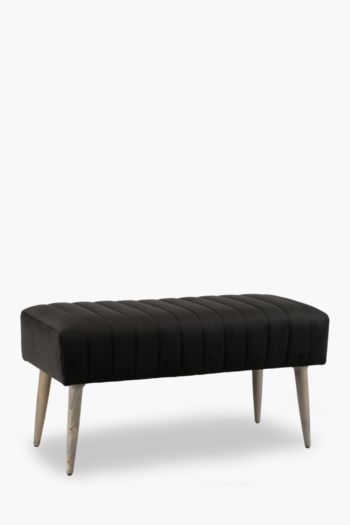 Regency Ribbed Velvet Bench