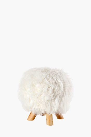 Faux Fur Stool