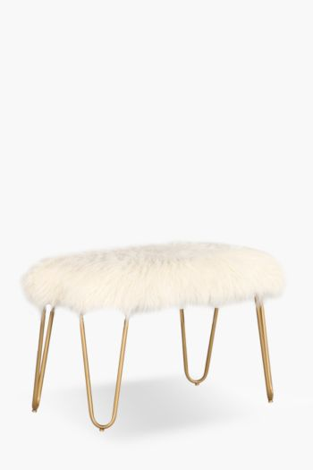 Atomic Faux Fur Bench