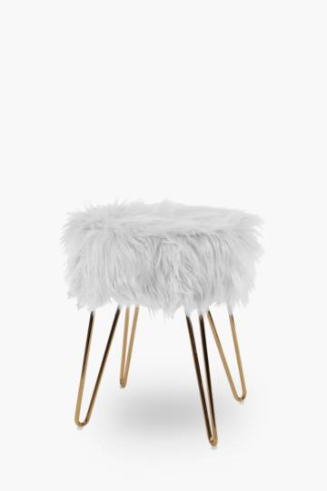 Atomic Faux Fur Stool